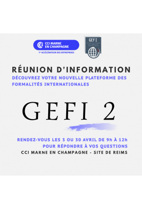 Réunion d'information GEFI 2