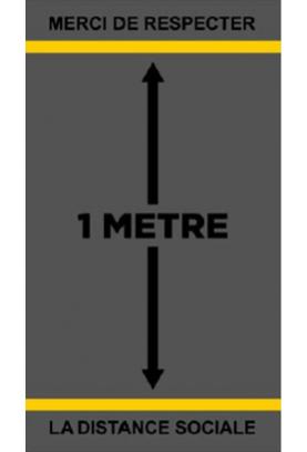 Tapis de sol - 1 mètre de distance