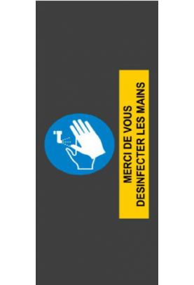 Tapis de sol - Merci de vous désinfecter les mains